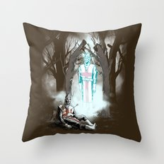 The Fallen Templar Throw Pillow