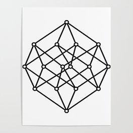 black line, prism art , wallpaper , case for iphone Poster