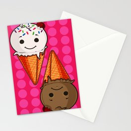Ice Cream Buddies- Version Pink Stationery Cards