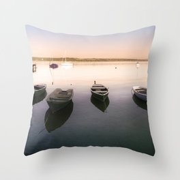 Ammersee Lake Landscape Throw Pillow