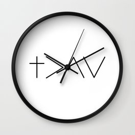 God is greater then the highs and the lows Wall Clock