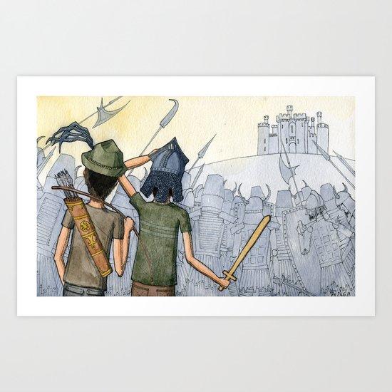 Castle Seige Art Print