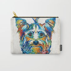 Colorful Yorkie Dog Art - Yorkshire Terrier - By Sharon Cummings Carry-All Pouch