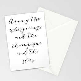 Among the whisperings and the champagne and the stars - The Great Gatsby Stationery Cards