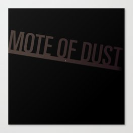Mote of Dust Sunbeam Logo Canvas Print
