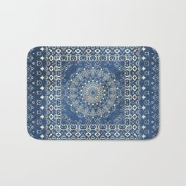 Old Bookshop Magic Mandala in Blue Bath Mat