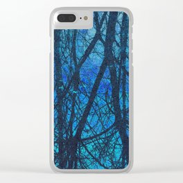 Connected blue Clear iPhone Case