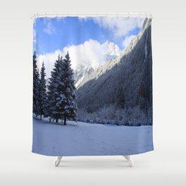 Alpine Winterscene Shower Curtain