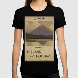 Donegal for Holidays Vintage Travel Poster T-shirt