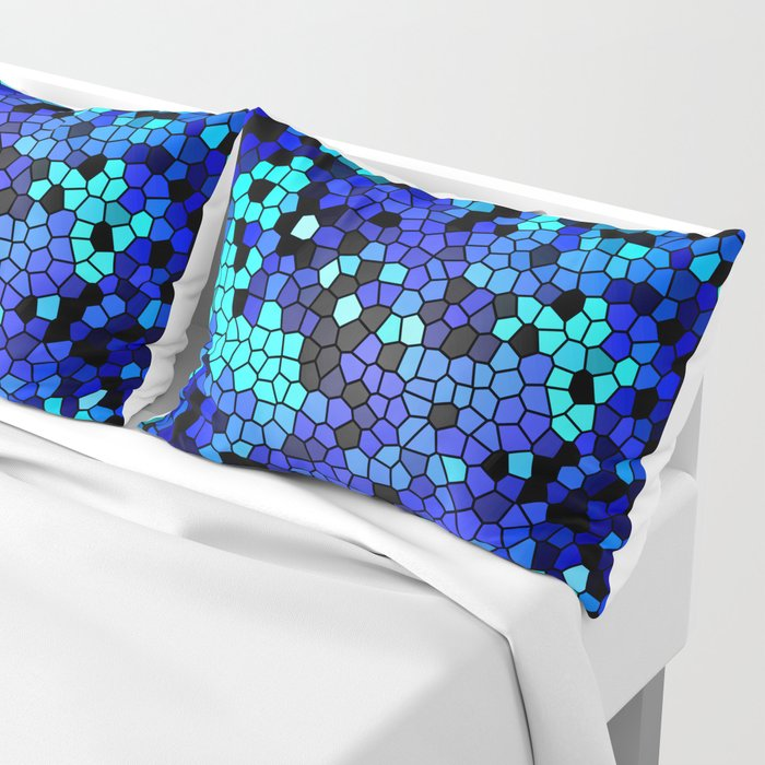 STAINED GLASS BLUES Pillow Sham