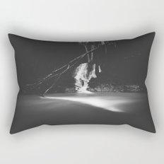 Minimalistic black and white waterfall Rectangular Pillow