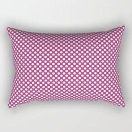 Festival Fuchsia and White Polka Dots Rectangular Pillow