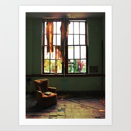Reading Chair Art Print