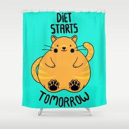 Diet Starts Tomorrow! Shower Curtain