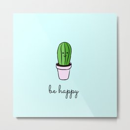 Happy cacti Metal Print