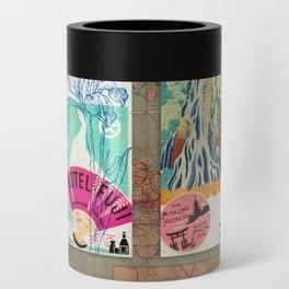 Label Fables, Japan I :: Fine Art Collage Can Cooler