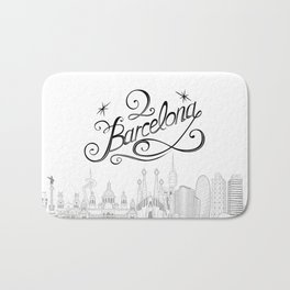 Barcelona with significant buildings Bath Mat