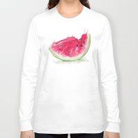 watermelon Long Sleeve T-shirts featuring Watermelon by Bridget Davidson