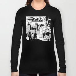 Morning coffee in a lab Long Sleeve T-shirt