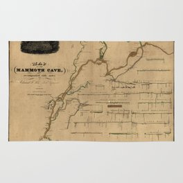 Map Of Mammoth Cave 1835 Rug