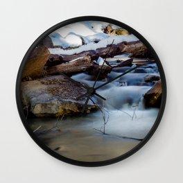 Winter Flow Wall Clock