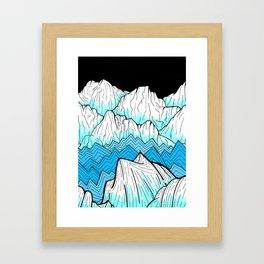 Antarctica mountains Framed Art Print