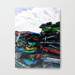 Junkyard Metal Print
