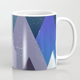 Starry mountain range Coffee Mug