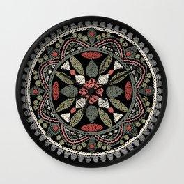 Jaipur Medallion Graphite Wall Clock
