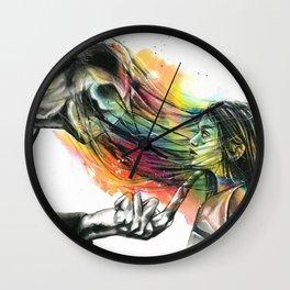 Slenderman stealing souls Wall Clock
