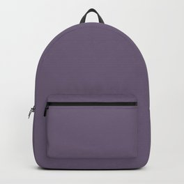 NOW GRAPE COMPOTE dusty purple solid color Backpack