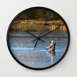 Gone Fishing 2 Wall Clock