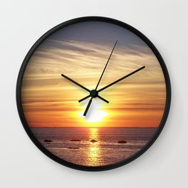 Gaspesie Sunset Wall Clock