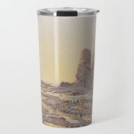 Castle Rock, Cape Schanck by Eu von Guerard Date 1867  Romanticism Series Australian Landscapes Travel Mug