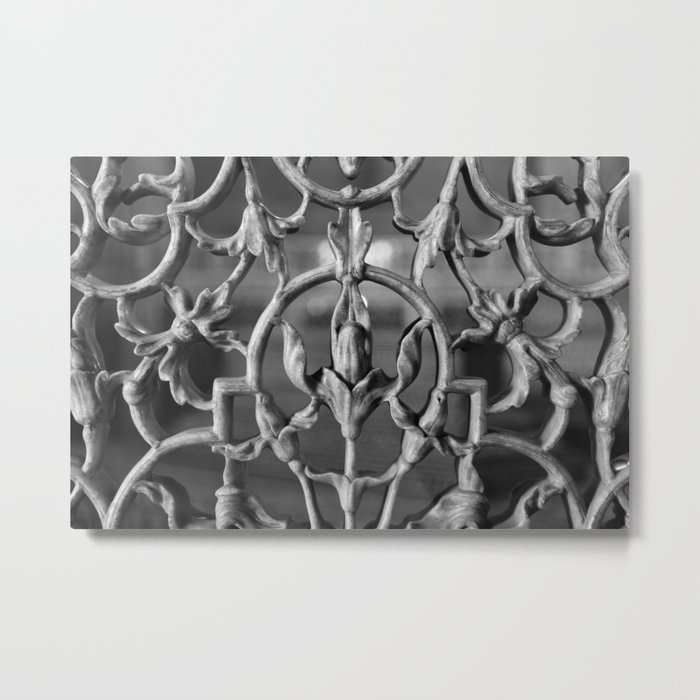 Black and white marble wallaper Metal Print