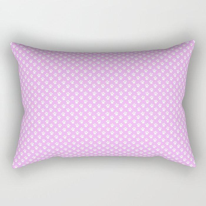 Tiny Paw Prints Pretty Pink Pattern Rectangular Pillow