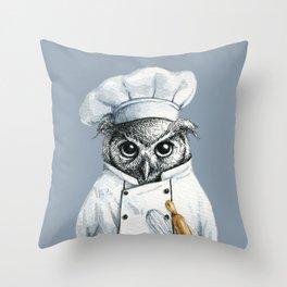 Baker Owl Throw Pillow