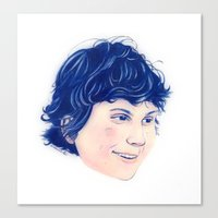 evan peters Canvas Prints featuring Evan Peters by Sindecualo
