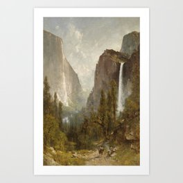 Thomas Hill - Bridal Veil Falls, Yosemite Valley Art Print