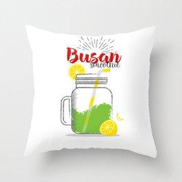 Fresh fruity drink in Busan, South Korea Throw Pillow