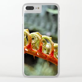 Curled Leaf Clear iPhone Case
