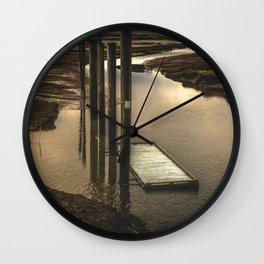 Washington Boat Launch Dock Wall Clock