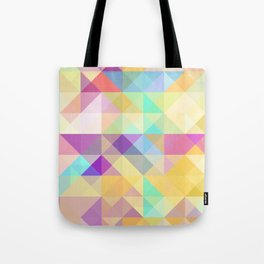 Chic Colorful Funky Retro Triangles Mosaic Pattern Tote Bag