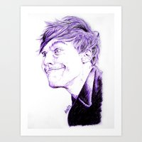louis tomlinson Art Prints featuring Louis Tomlinson by Drawpassionn