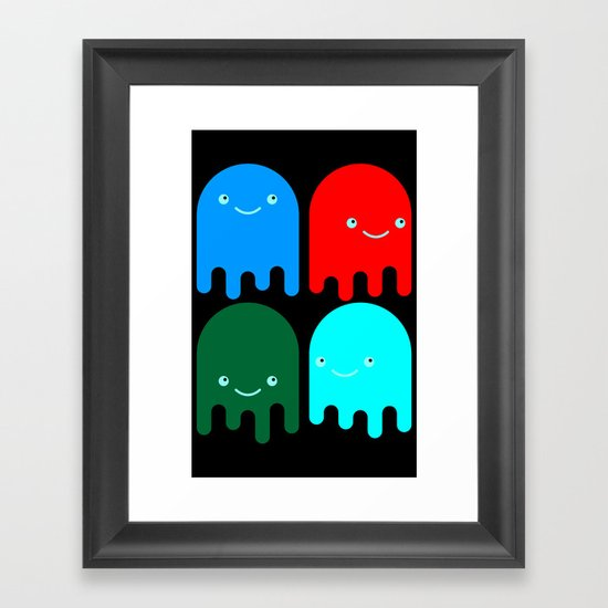 Friendly Ghosts Framed Art Print