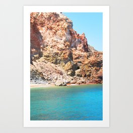 244. Red and Blue, Greece Art Print