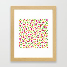 Colorful Circles Abstract Print Framed Art Print