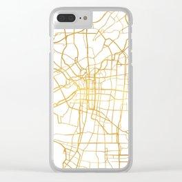 OSAKA JAPAN CITY STREET MAP ART Clear iPhone Case