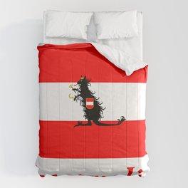 Australia - Kangaroo on Austrian Flag Comforters