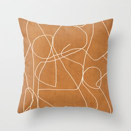 Abstract line art 17 Throw Pillow